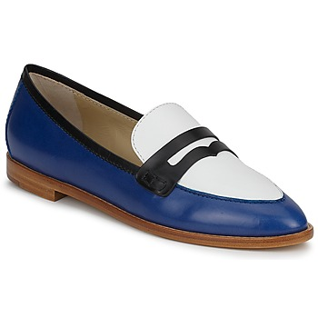 Schoenen Dames Mocassins Etro MOCASSIN 3767 Blauw / Zwart / Wit