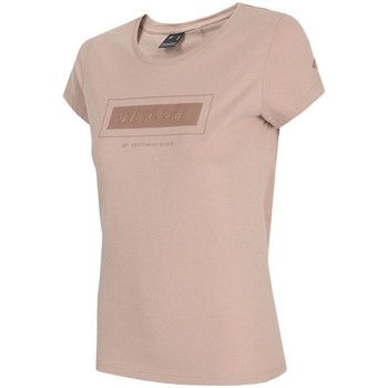 Textiel Dames T-shirts korte mouwen 4F TSD034 Rose