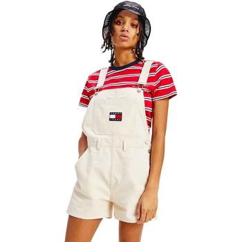 Textiel Dames Jumpsuites / Tuinbroeken Tommy Jeans DW0DW09917 Beige