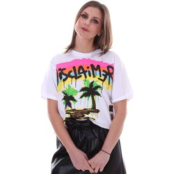 Textiel Dames T-shirts korte mouwen Disclaimer 21EDS50632 Wit