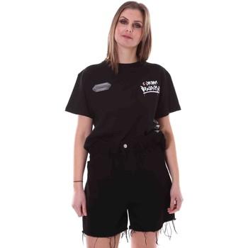 Textiel Dames T-shirts korte mouwen Disclaimer 21EDS50642 Zwart