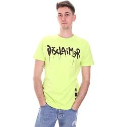 Textiel Heren T-shirts korte mouwen Disclaimer 21EDS50565 Groen
