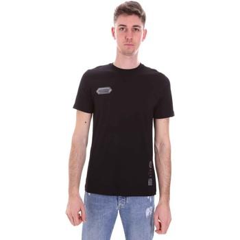 Textiel Heren T-shirts korte mouwen Disclaimer 21EDS50517 Zwart