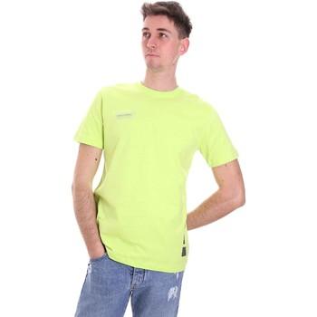 Textiel Heren T-shirts korte mouwen Disclaimer 21EDS50517 Groen