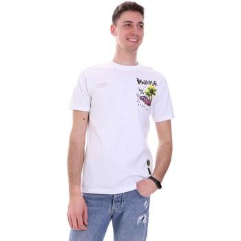 Textiel Heren T-shirts korte mouwen Disclaimer 21EDS50522 Wit