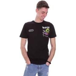 Textiel Heren T-shirts korte mouwen Disclaimer 21EDS50522 Zwart