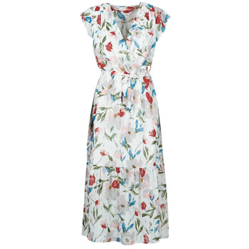 Textiel Dames Lange jurken Moony Mood  Wit / Multicolour