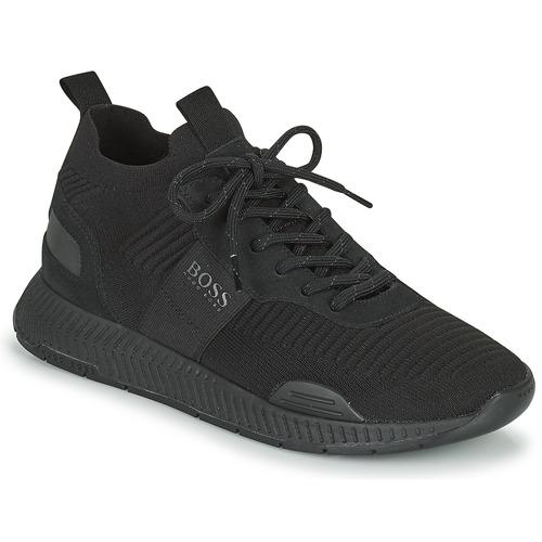 Schoenen Heren Lage sneakers BOSS TITANIUM RUNN KNST1 Zwart