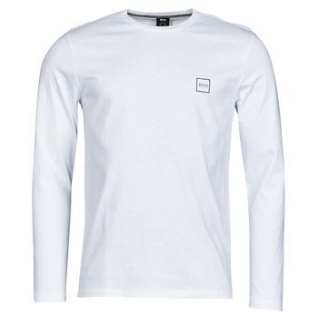 Textiel Heren T-shirts met lange mouwen BOSS TACKS Wit