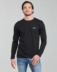 Textiel Heren T-shirts met lange mouwen BOSS TOGN CURVED Zwart