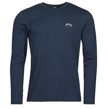 Textiel Heren T-shirts met lange mouwen BOSS TOGN CURVED Marine