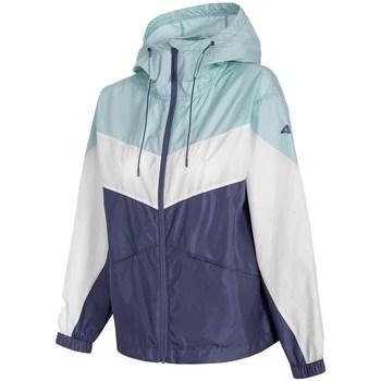 Textiel Dames Jacks / Blazers 4F KUDC001 Blanc, Bleu, Bleu marine