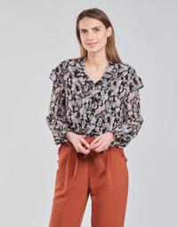 Textiel Dames Tops / Blousjes Betty London OCARA Zwart / Multicolour