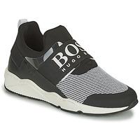 Schoenen Jongens Lage sneakers BOSS NATINA Zwart / Wit