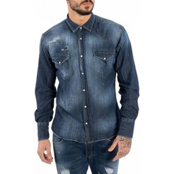 Textiel Heren Overhemden lange mouwen Takeshy Kurosawa  Blauw