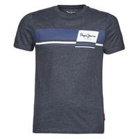 Textiel Heren T-shirts korte mouwen Pepe jeans KADE Blauw