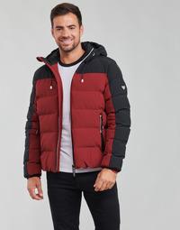 Textiel Heren Dons gevoerde jassen Emporio Armani EA7 TRAINING CASUAL SPORTY Zwart / Rood