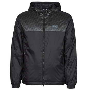 Textiel Heren Wind jackets Emporio Armani EA7 TRAIN LOGO SERIES Zwart