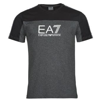 Textiel Heren T-shirts korte mouwen Emporio Armani EA7 TRAIN ATHLETIC Zwart