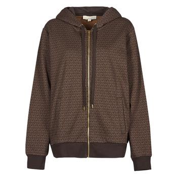 Textiel Dames Sweaters / Sweatshirts MICHAEL Michael Kors UNISEX MK DOT ZIP HOODIE Brown