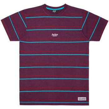 Textiel Heren T-shirts korte mouwen Jacker Rtk stripes Violet