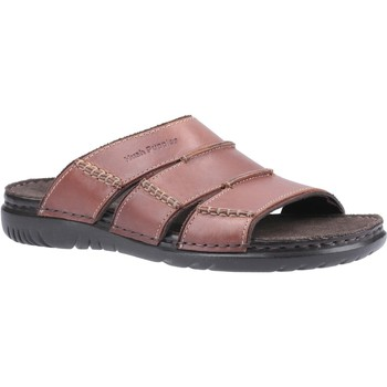 Schoenen Heren Leren slippers Hush puppies  Bruin