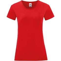 Textiel Dames T-shirts korte mouwen Fruit Of The Loom 61444 Rood
