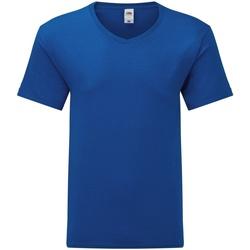 Textiel Heren T-shirts korte mouwen Fruit Of The Loom 61442 Koningsblauw