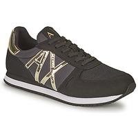 Schoenen Dames Lage sneakers Armani Exchange HALOISE Zwart / Goud