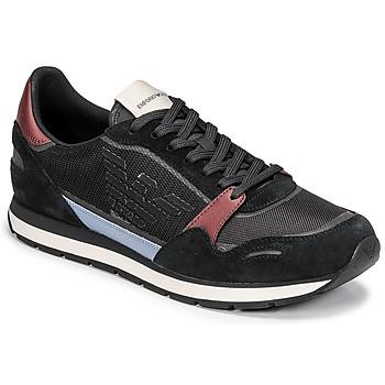 Schoenen Heren Lage sneakers Emporio Armani ANIMA Zwart / Bordeaux