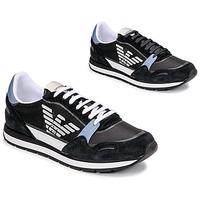 Schoenen Heren Lage sneakers Emporio Armani ANIMA Zwart / Blauw / Maroon