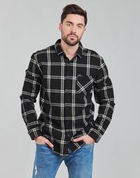 Textiel Heren Overhemden lange mouwen Rip Curl CHECKED OUT L/S FLANNEL Zwart
