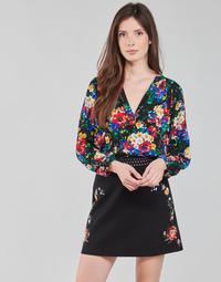 Textiel Dames Tops / Blousjes Desigual VERBENA Multicolour
