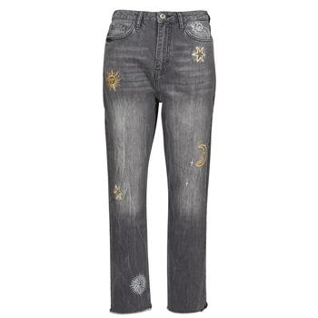 Textiel Dames Straight jeans Desigual LAGUN Grijs