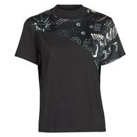 Textiel Dames T-shirts korte mouwen Desigual GRACE HOPPER Zwart