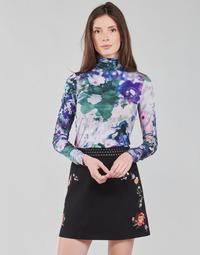 Textiel Dames T-shirts met lange mouwen Desigual INAYA Multicolour