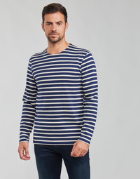 Textiel Heren T-shirts met lange mouwen Armor Lux MARINIERES RUSTIQUE BIO GA1 Blauw