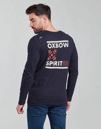 Textiel Heren T-shirts met lange mouwen Oxbow N2TORJOK Marine