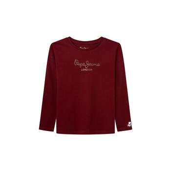 Textiel Meisjes T-shirts met lange mouwen Pepe jeans NURIA LS Rood