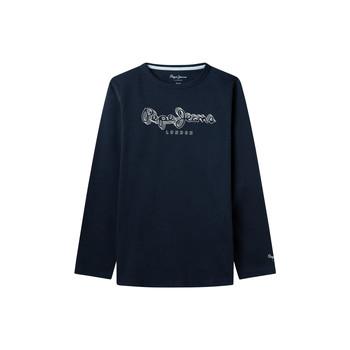 Textiel Jongens T-shirts met lange mouwen Pepe jeans ALDO Marine