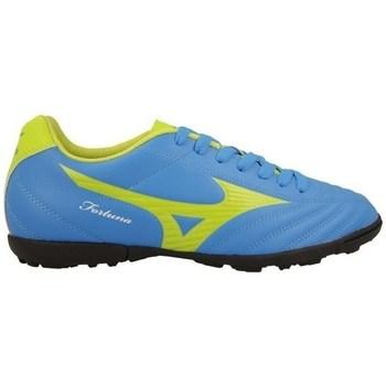 Schoenen Heren Voetbal Mizuno Fortuna 4 AS Bleu, Vert clair
