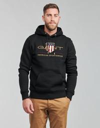 Textiel Heren Sweaters / Sweatshirts Gant ARCHIVE SHIELD HOODIE Zwart