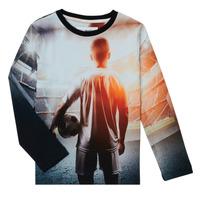 Textiel Jongens T-shirts met lange mouwen Desigual FOOTBALL Grijs