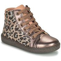 Schoenen Meisjes Hoge sneakers Bisgaard GAIA Leopard / Goud