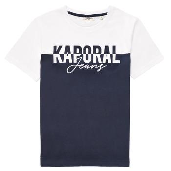 Textiel Jongens T-shirts korte mouwen Kaporal JILEY Wit