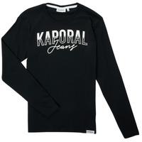 Textiel Jongens T-shirts met lange mouwen Kaporal JODLE Zwart
