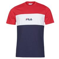 Textiel Heren T-shirts korte mouwen Fila ANOKI Rood / Marine / Wit