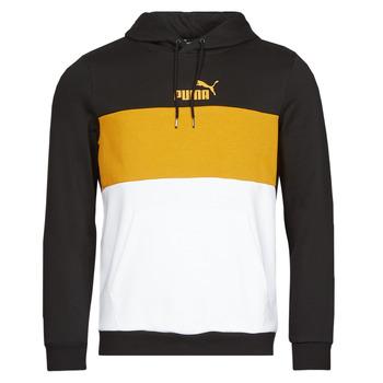 Textiel Heren Sweaters / Sweatshirts Puma ESS+ COLORBLOCK HOODIE FL Zwart / Geel