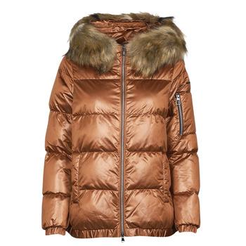 Textiel Dames Dons gevoerde jassen Geox BAKSIE Brown / Glacé