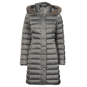 Textiel Dames Dons gevoerde jassen Geox W BETTANIE LONG JKT Zilver